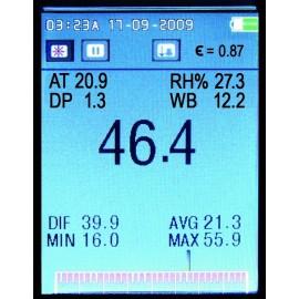 Afficheur Thermomètre infra-rouge vidéo.
